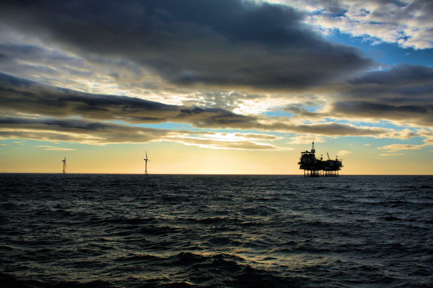 Beatrice Oil Platform Wind Turbine