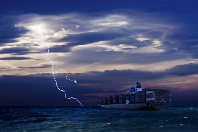 Container vessel lighning