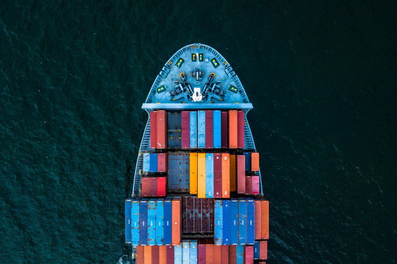 International Container Cargo ship