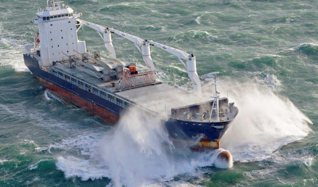 Shipping ship rough sea ocean OpenHatch 2