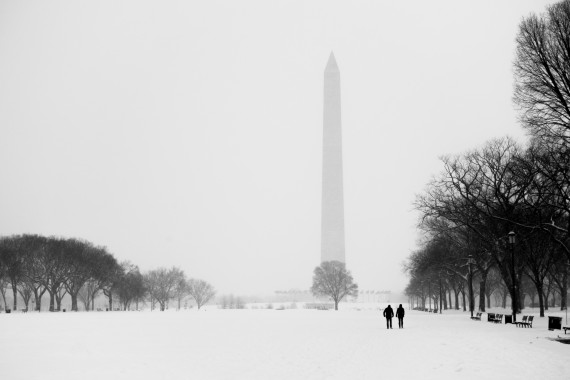 Washington DC snowstorm flipped