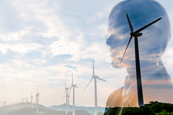 Wind power businesswoman