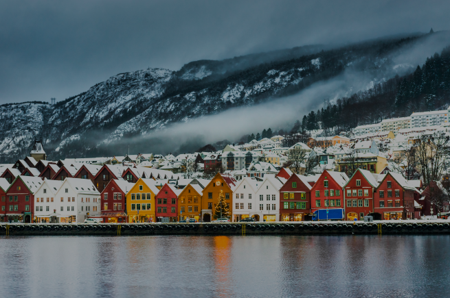 bergen winter dark
