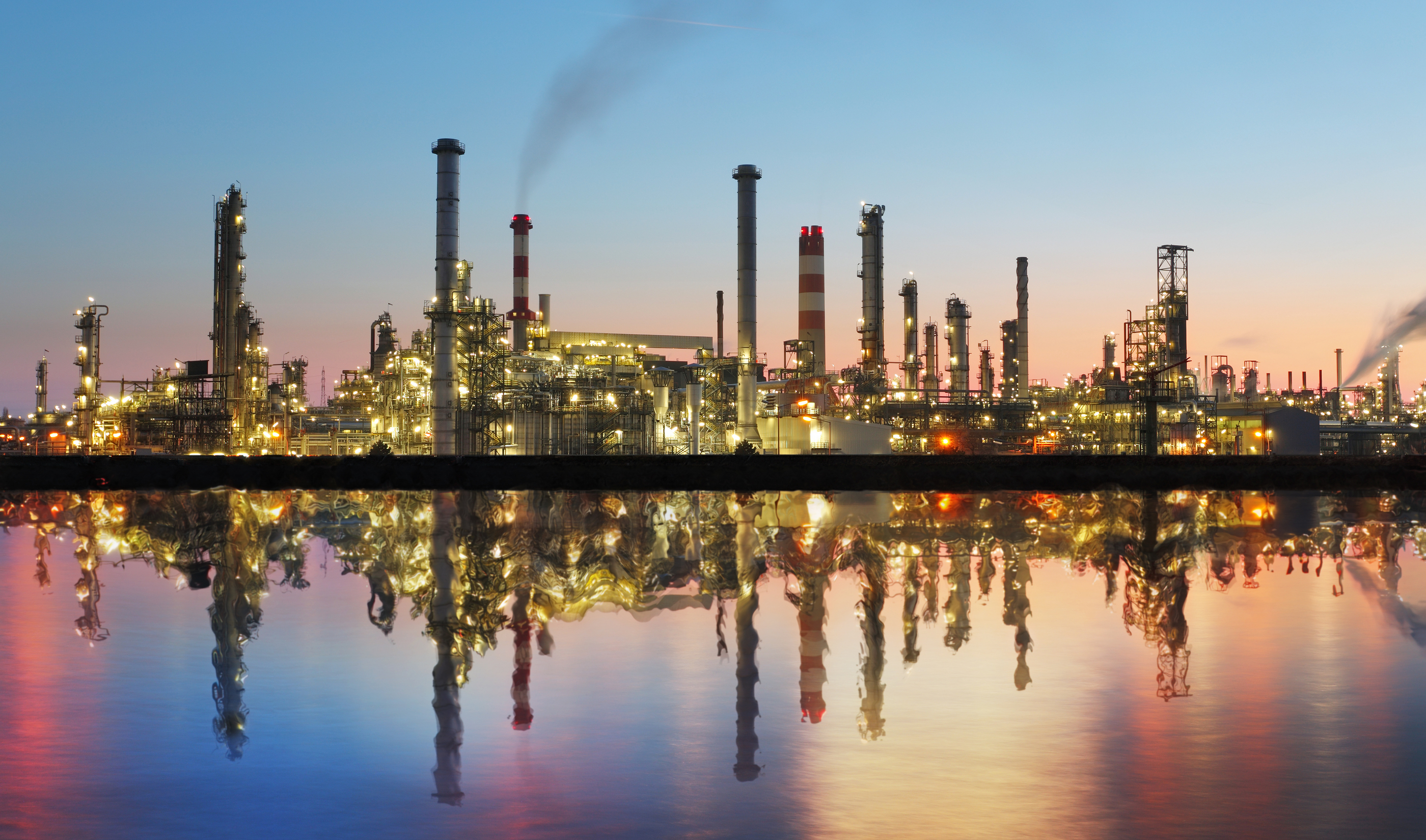 bigstock Oil And Gas Refinery At Twilig 49819466