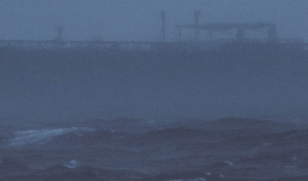 cargo ship in rough sea