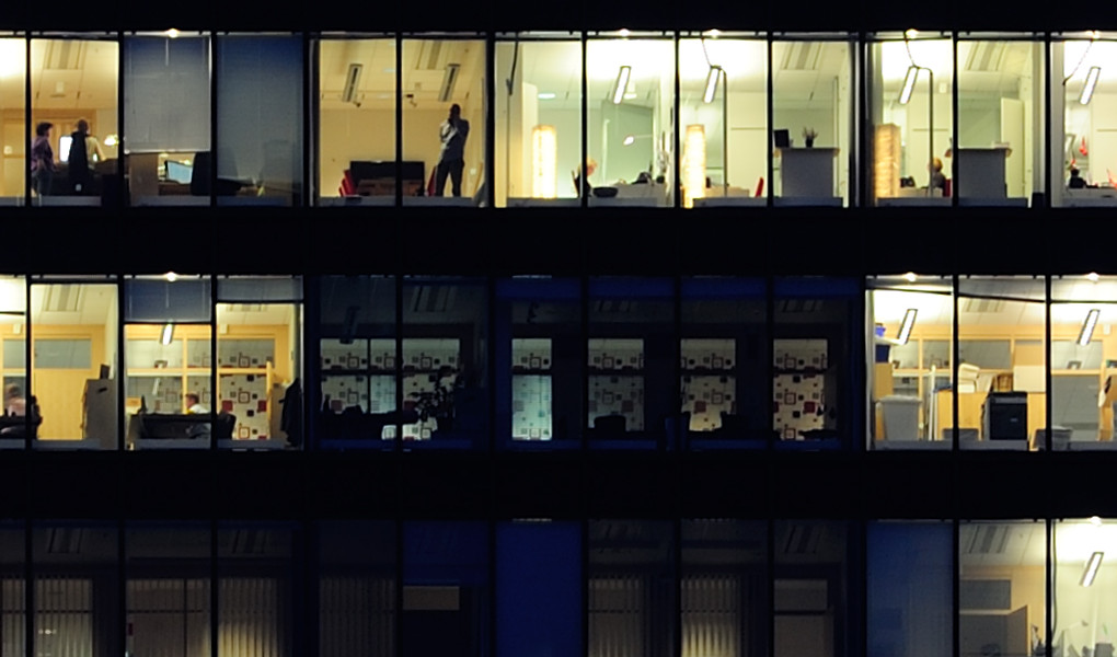 office windows at night3