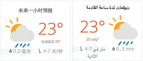 preferred languages and metrics in display online global weather2