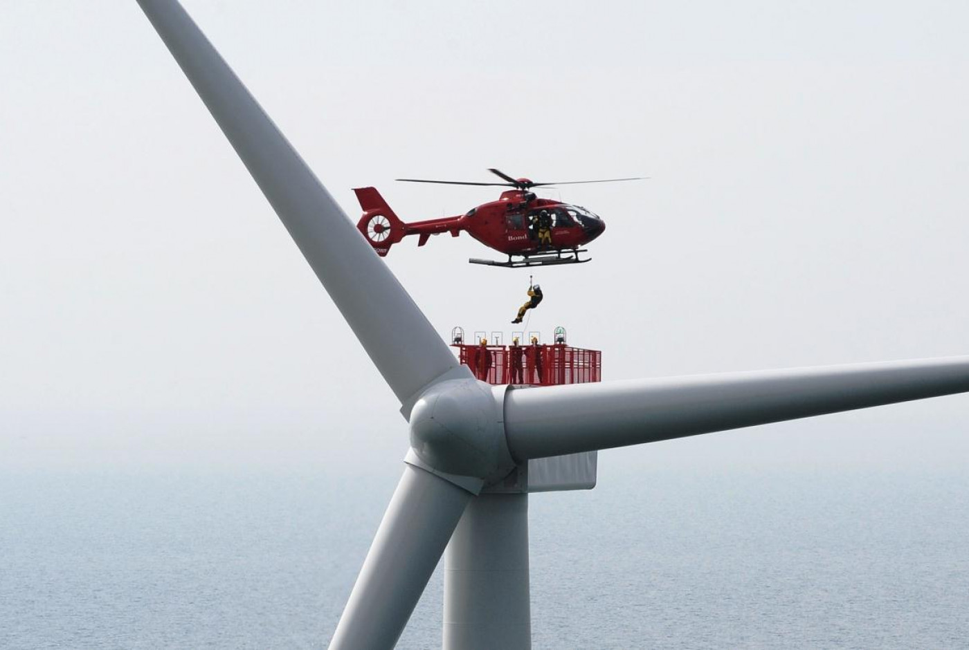 severe weather impacts complex offshore wind farm operations wind turbine helicopter