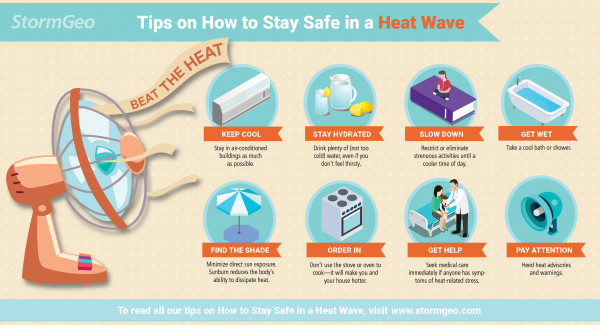 stay safe in heat wave tips