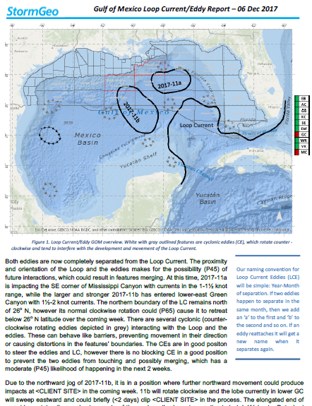 Gulf of Mexico Loop Current Eddy report