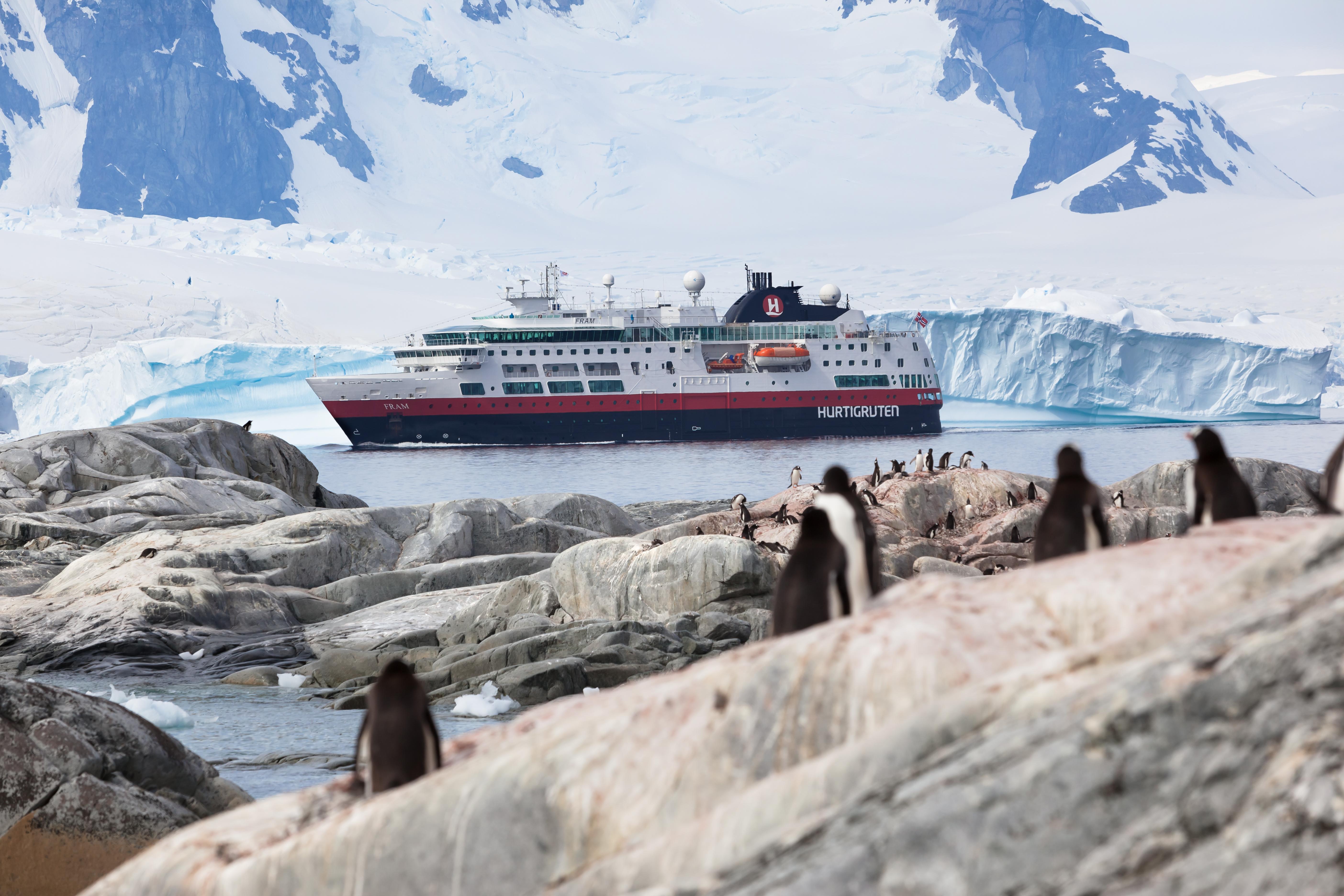 Antarctic Peninsula cruise ship Hurtigruten