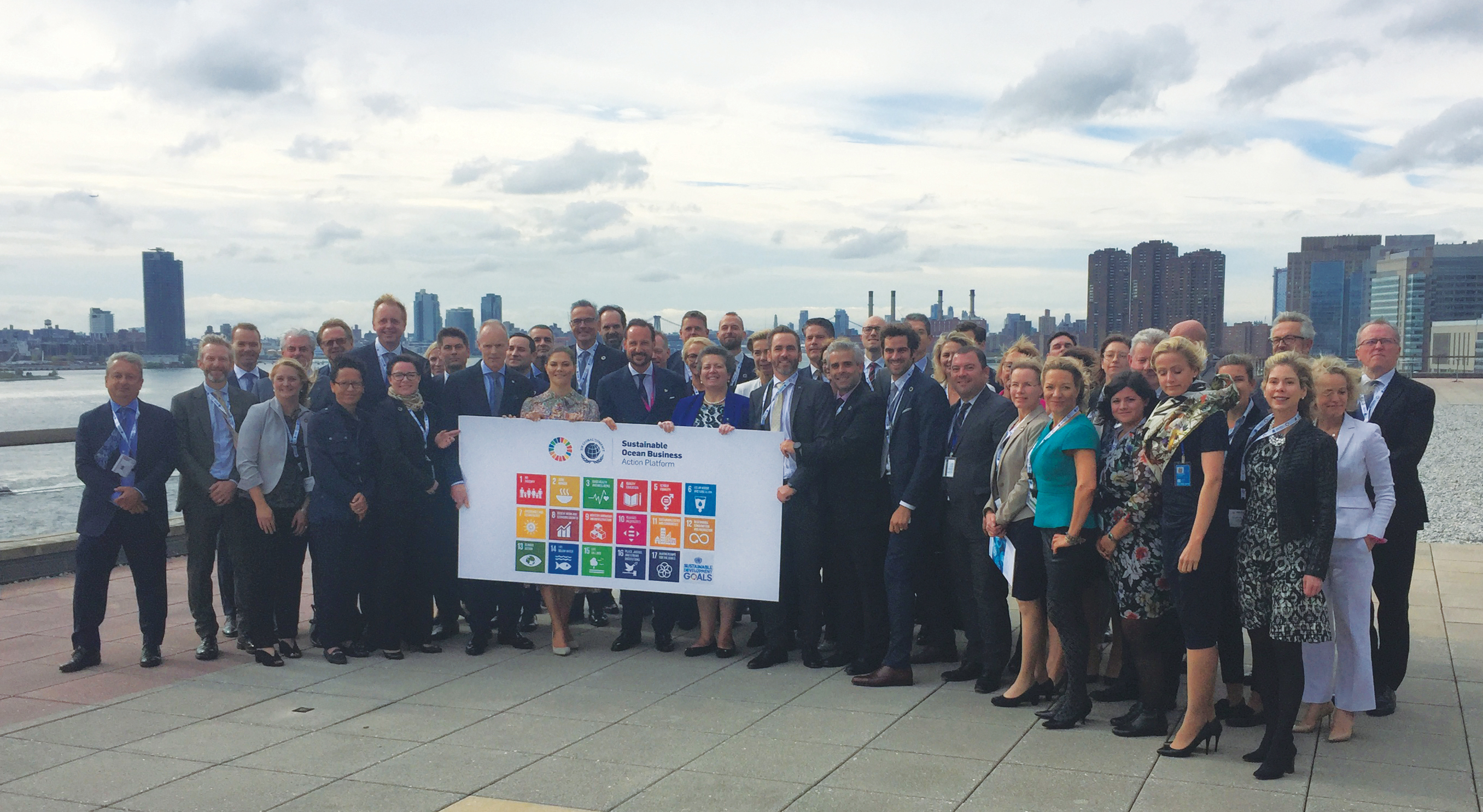 Group photo Sustainable Ocean Business Action Platform 24 September UNHQ2