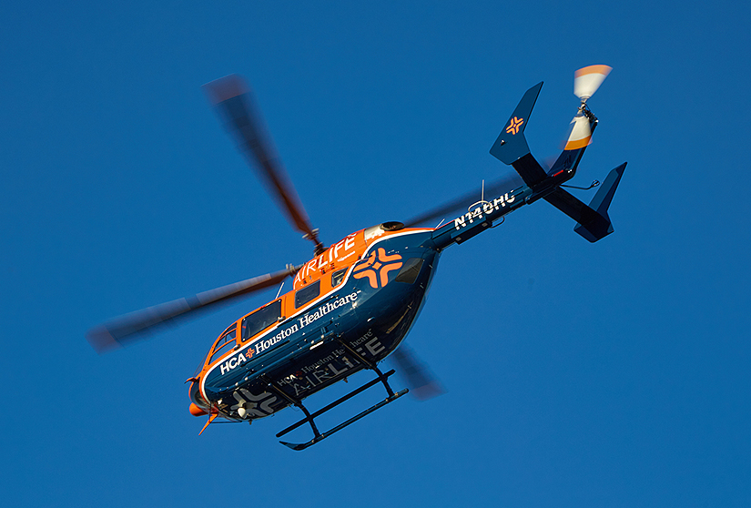 HCA Healthcare helicopter