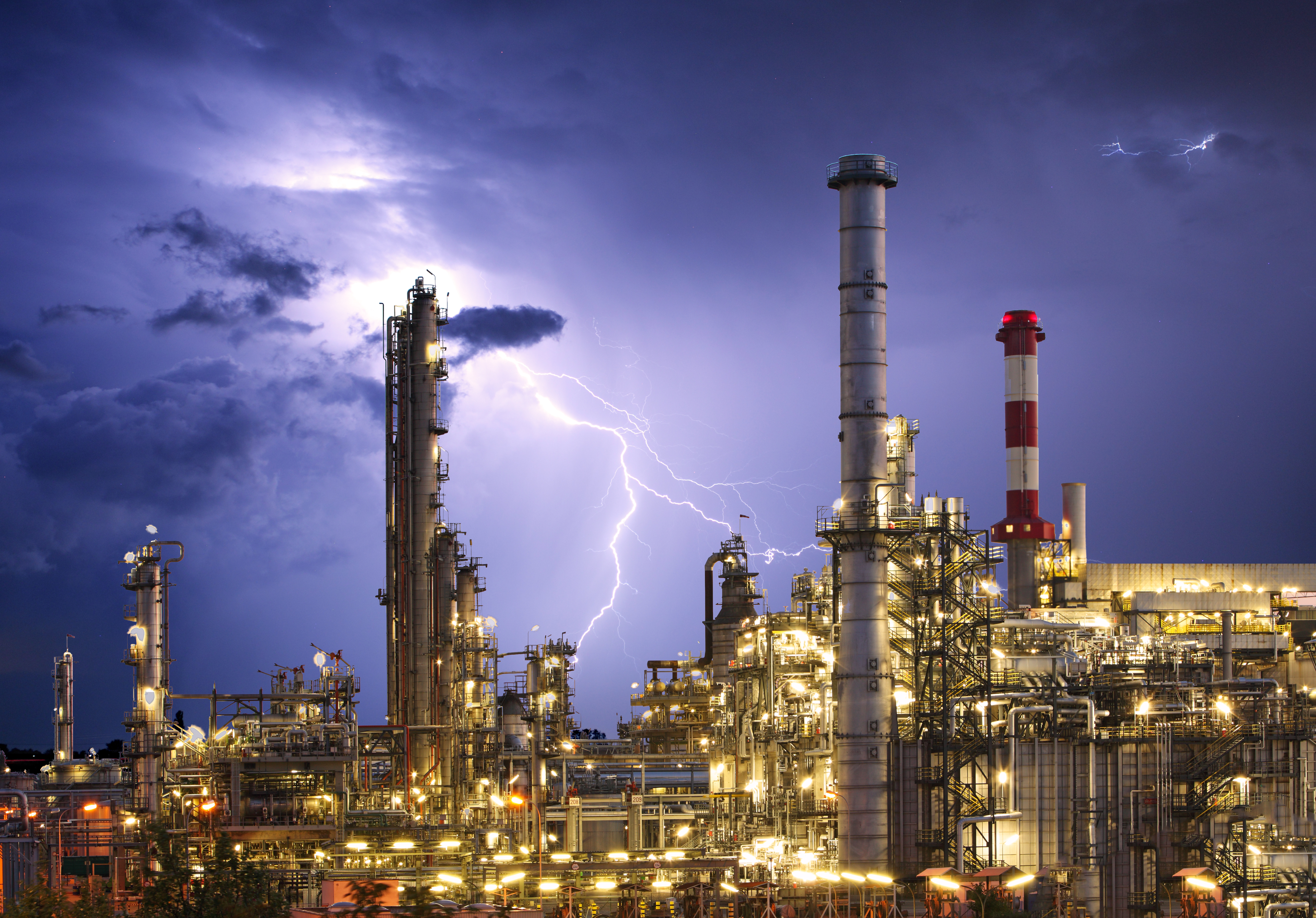 Oil and Gas Plant Lightning2