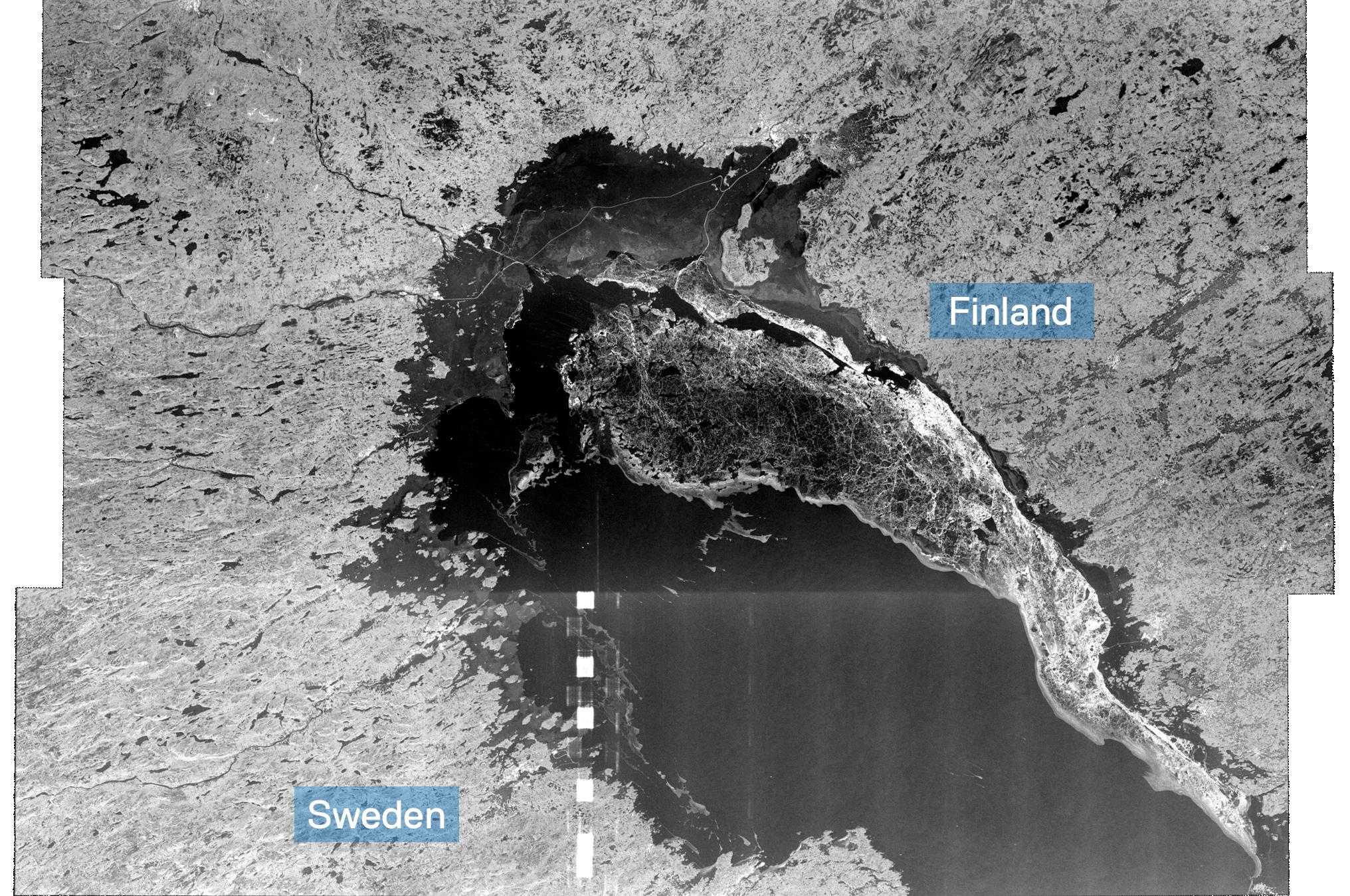 Satellite image Bothnian Bay