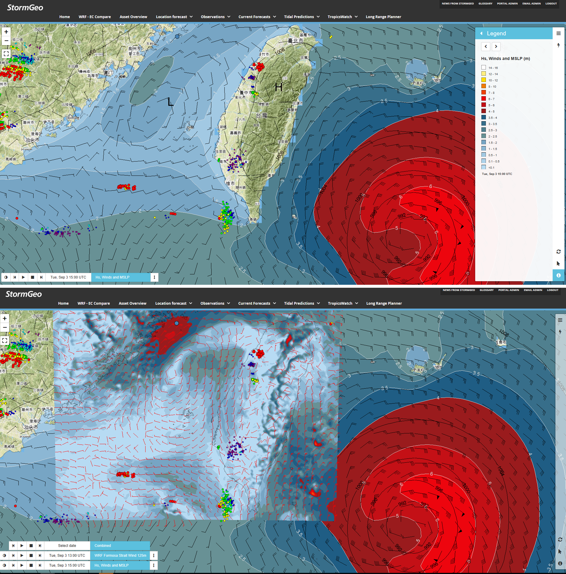 StormGeo global vs high res model