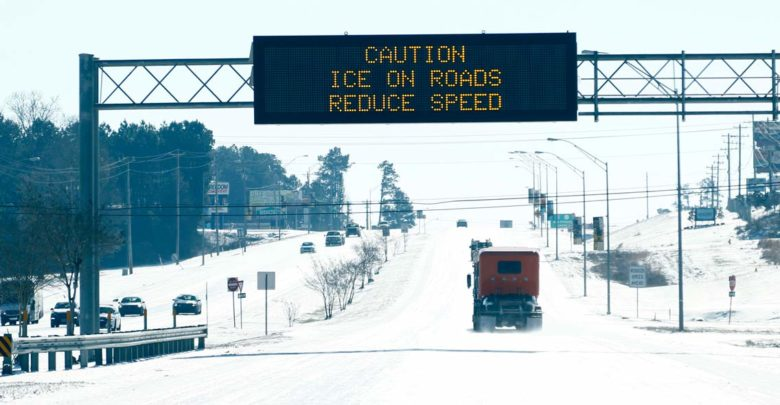 Winter Weather road sign