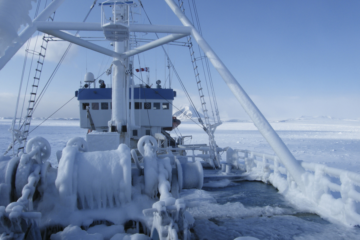 ice on ship