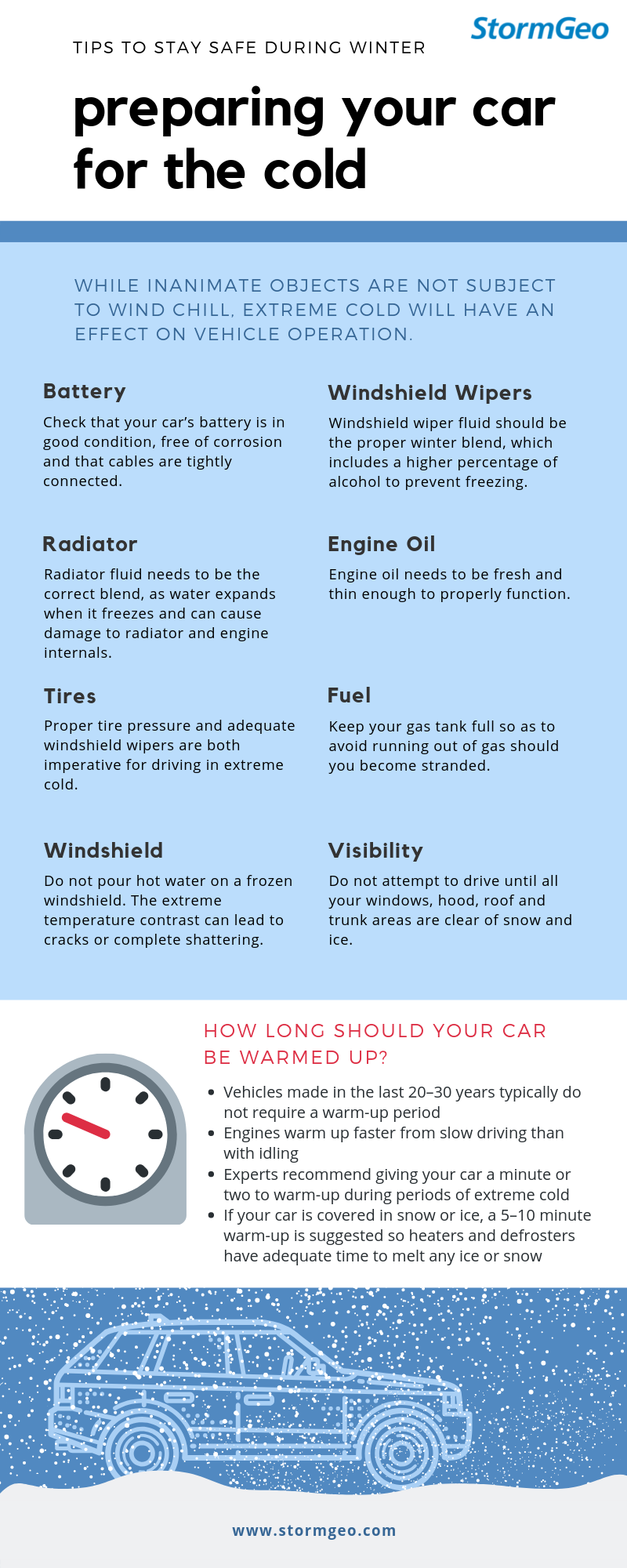 preparing your car for the cold