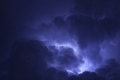 Lightning within a cloud